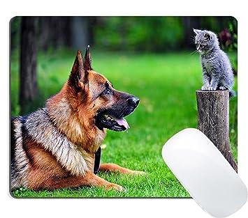 wknoon juegos alfombrilla de ratón personalizados diseño divertido, lindo gato pesado la respiración deseo para