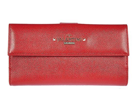 Valentino Garavani Portefeuille Portemonnaie Femme En Cuir Rouge - Porte monnaie valentino
