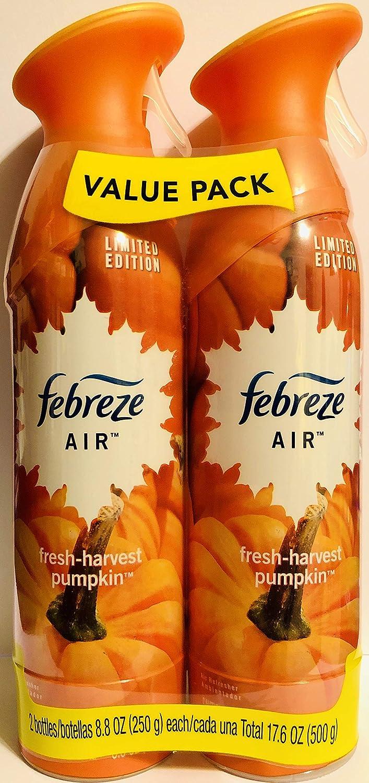 Febreze Air - Limited Edition - Fresh-Harvest Pumpkin - Twin Package - Net Wt. 8.8 OZ (250 g) Per Bottle - One (1) Package (2 Count Bottles)
