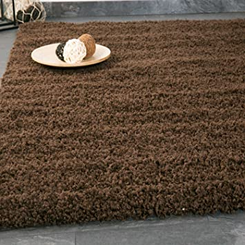 VIMODA Teppich Prime Shaggy Farbe Braun Hochflor Langflor Teppiche Modern  Für Wohnzimmer Schlafzimmer 70x250 Cm
