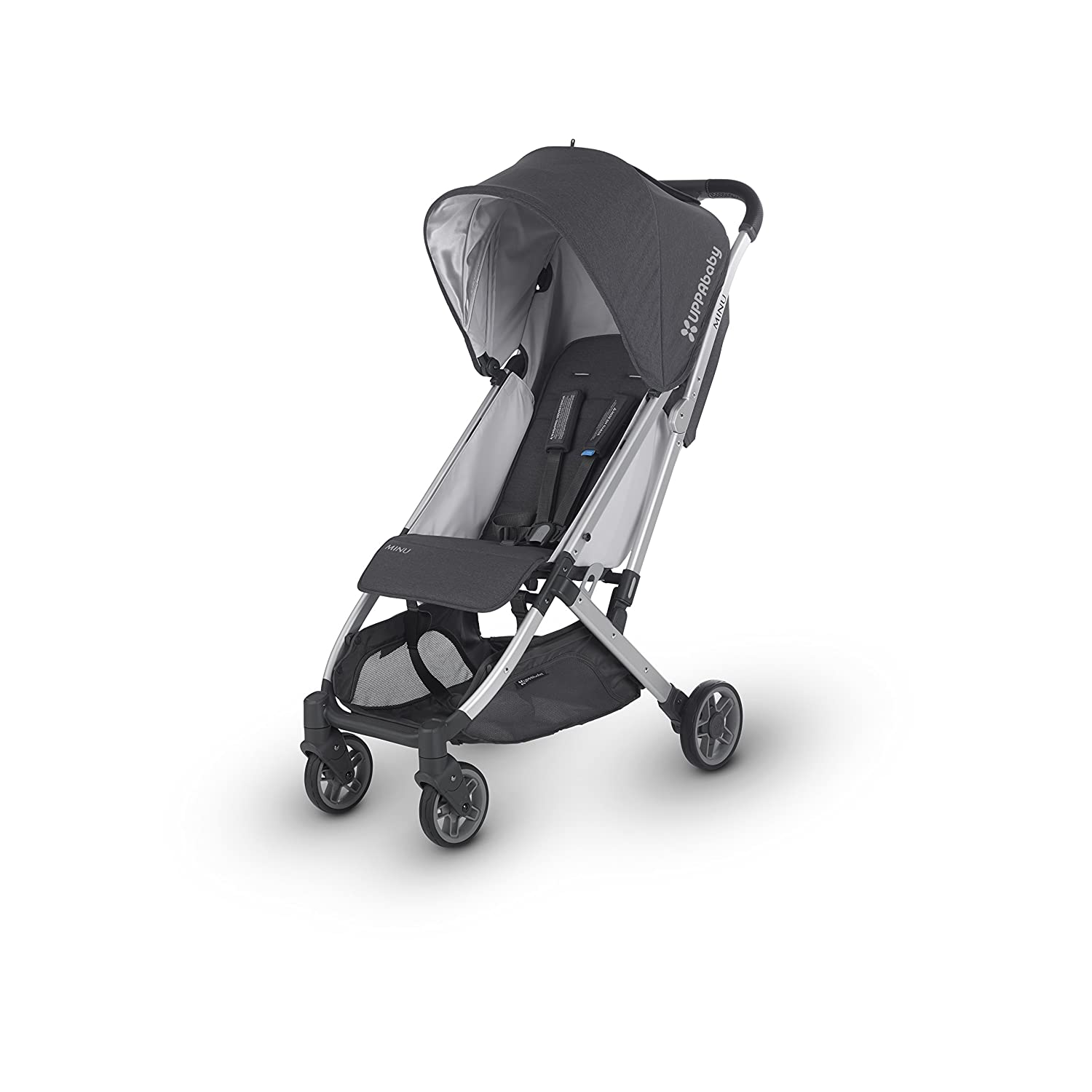 pretty nice c039b c939f Amazon.com   2018 UPPAbaby MINU Stroller - Jordan (Charcoal  Melange Silver Black Leather)   Baby