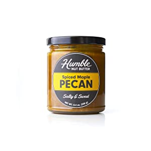 Humble Nut Butter | Spiced Maple Pecan Butter | nut butter with organic turmeric, ginger, cinnamon, maple sugar and pecans | Vegan, Gluten Free, No refined Sugars, No Palm Oil, Soy Free | Pack of 1