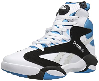 Reebok Men's Shaq Attaq Fashion Sneaker, White/Black/Azzure Steel, ...