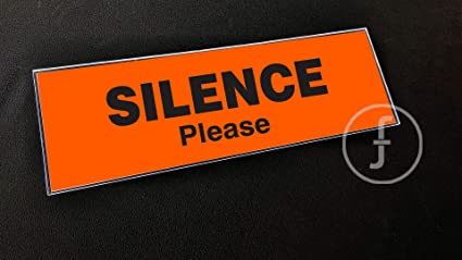 fingerz Silence Please Acrylic Signage Laminated Glass Sign Board Office  Hospital Medical Collage (25 x 10 cm)