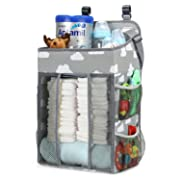 Magicfly Hanging Diaper Caddy Organizer, Diaper Stacker for Changing Table, Crib, Playard & Wall, Large Capacity Nursery Organization, Perfect Baby Shower Gift for Boys & Girls