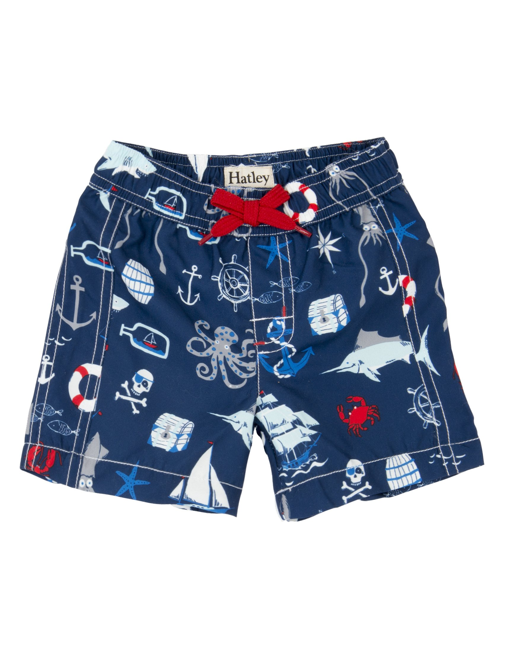 Hatley Boys' Baby Swim Trunks, Vintage Nautical, 18-24M by Hatley