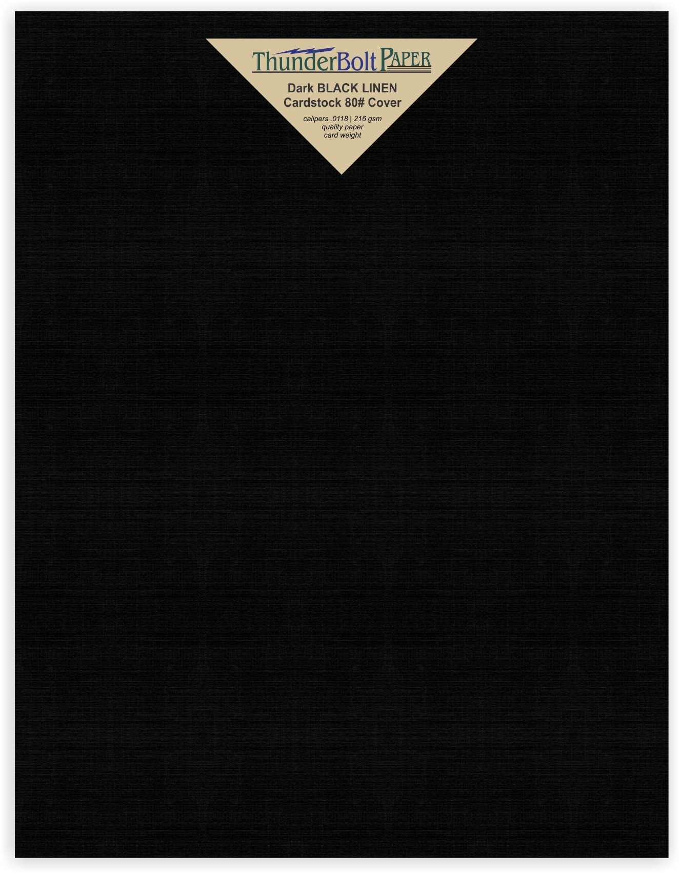 25 Black Linen 80# Cover Paper Sheets -8.5'' X 11'' (8.5X11 Inches) Standard Letter|Flyer Size - Card Weight - Deep Dye, Fine Linen Textured Finish - Quality Cardstock