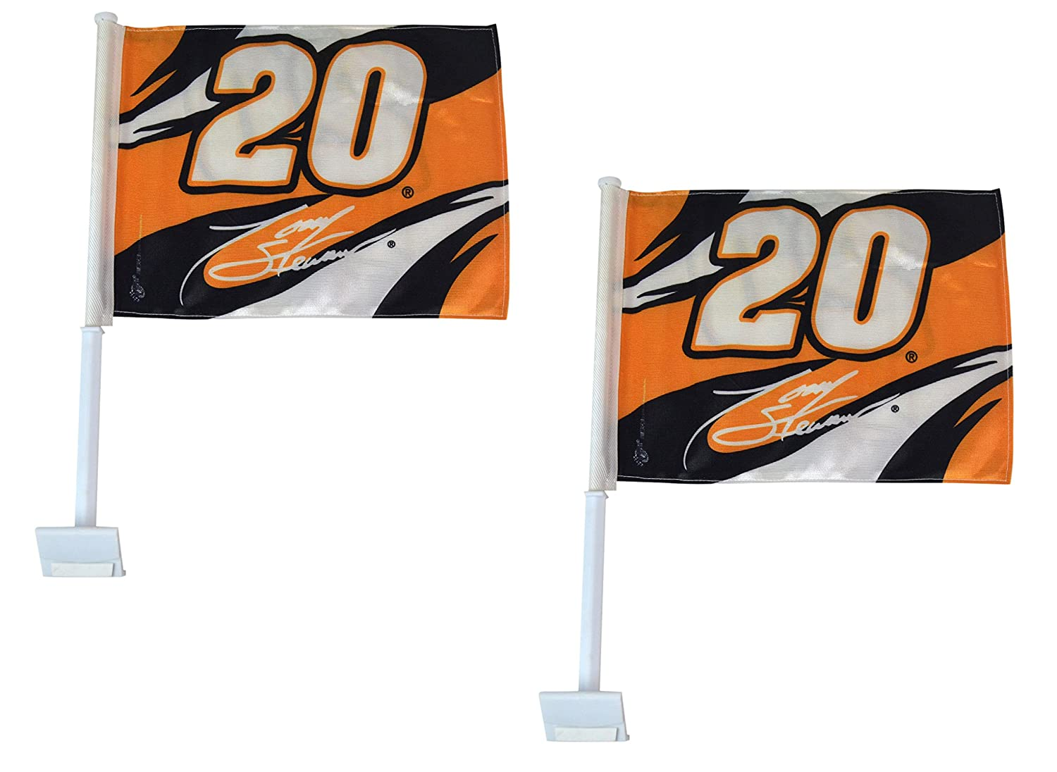 Official NASCAR Fan Shop Authentic Car Window Flags 2-Pack. Show Pride for your favorite NASCAR driver at Track or Driving around Town Winner' s Cricle/NASCAR