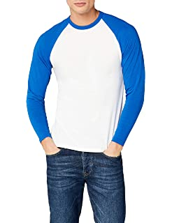 472db41de Mens Fruit of the Loom Long-Sleeve Baseball T Shirt, Mens Cotton ...
