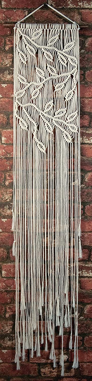 Chevrons /& Tassels Solid Oak MWH005 Macrame Wall Hanger Kit