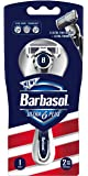 Barbasol Ultra 6 Plus Men's Razor with 2 Razor Blade Refills (1 Handle + 2 Cartridges), Mens Razors/Blades