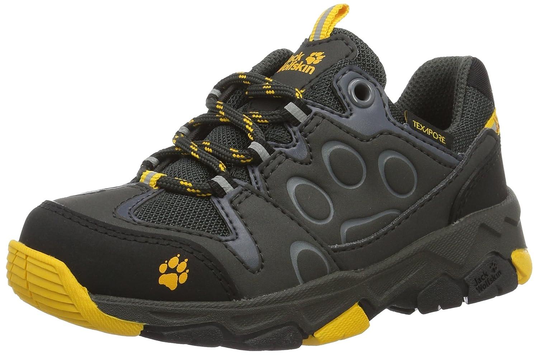 gris (Burly jaune 3800) 32 EU Jack Wolfskin MTN Attack 2 Texapore Faible K, Chaussures de Randonnée Basses Mixte Enfant