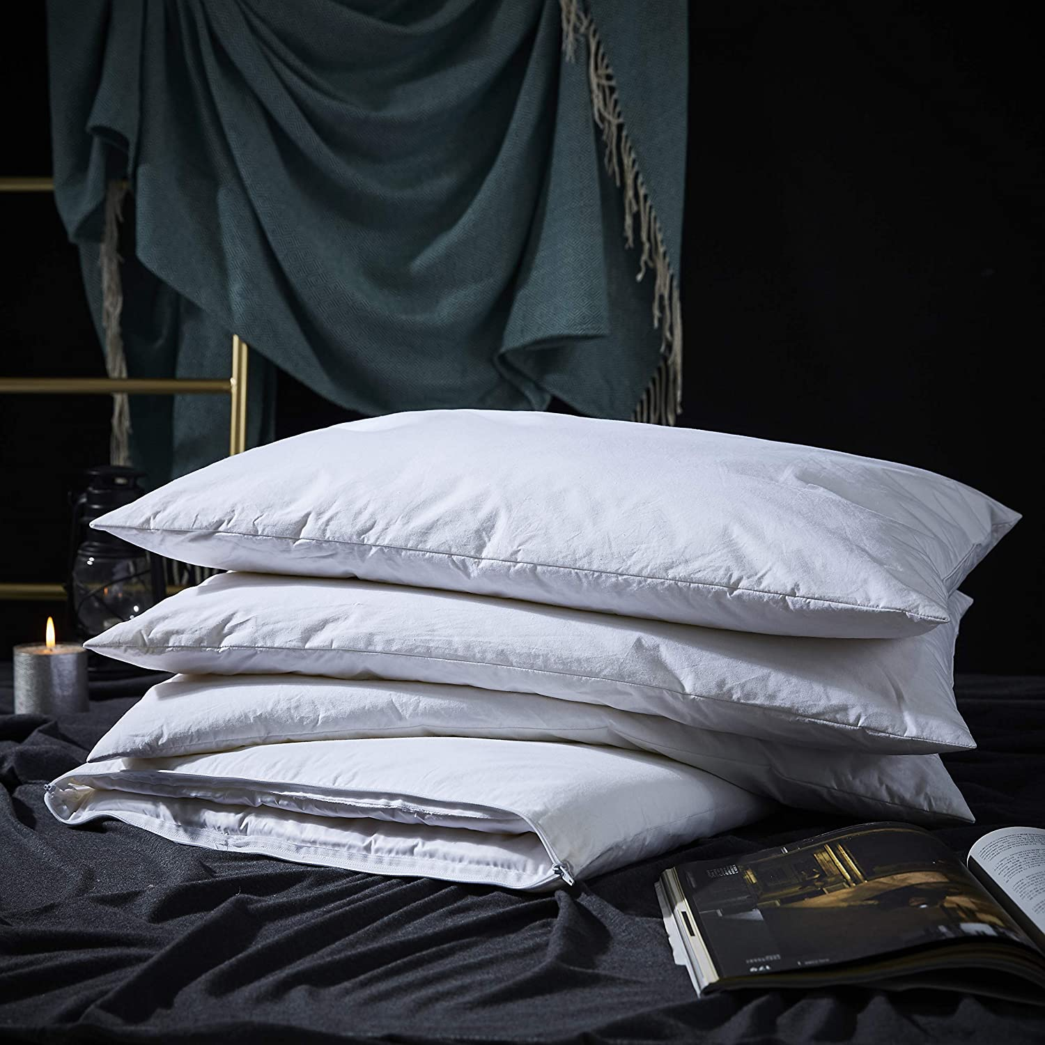 King Down//Feather Pillow Custom Made In Our Shop!