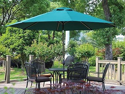 amazon com abba patio 11 feet patio umbrella outdoor table rh amazon com Solar Lights Amazon Patio Umbrella Solar Lights Amazon Patio Umbrella