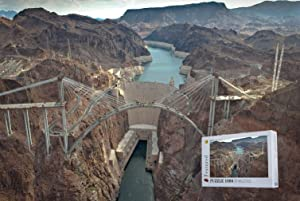 Geekpuz Hoover Dam in Nevada US 1000 Pieces Wooden Jigsaw Puzzles-Suitable for Frame