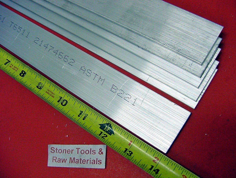 """3//16/"""" X 4/"""" X 12/"""" Long Aluminum Flat Bar 2 Pieces"""