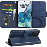 Arae Case for Samsung Galaxy S20+ / S20 Plus PU Leather Wallet Case Cover [Stand Feature] with Wrist Strap and [4-Slots] ID&C