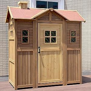 大型木製物置小屋 ポタジェモザイク ガーデンシェッド