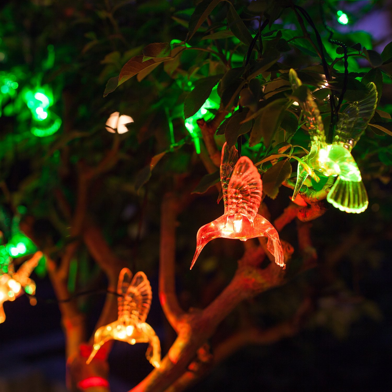10 Color Changing LED Hummingbird Solar Outdoor Garden & Patio ...