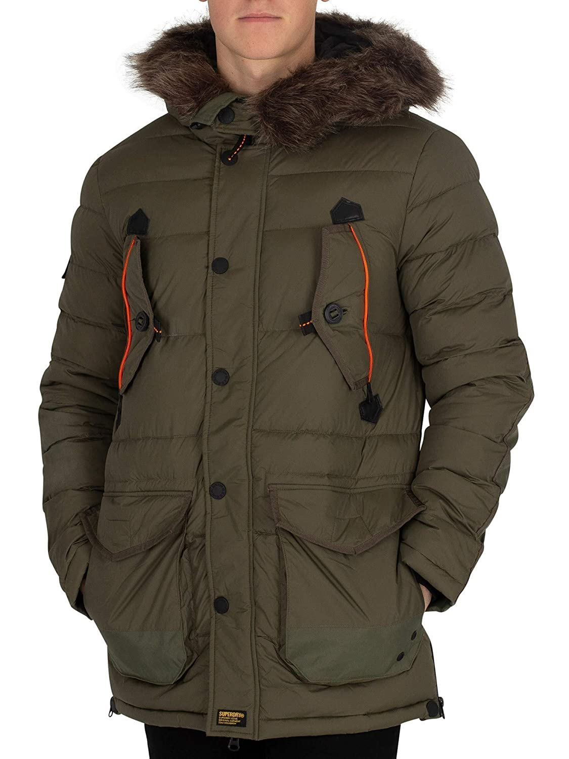 Superdry Mens Chinook Parka Jacket, Green at Amazon Mens ...