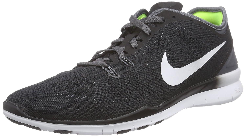 NIKE Women's Free 5.0 TR Fit 5 Training Shoe B00K32I69M 6 B(M) US|Black/White/Dark Grey/White