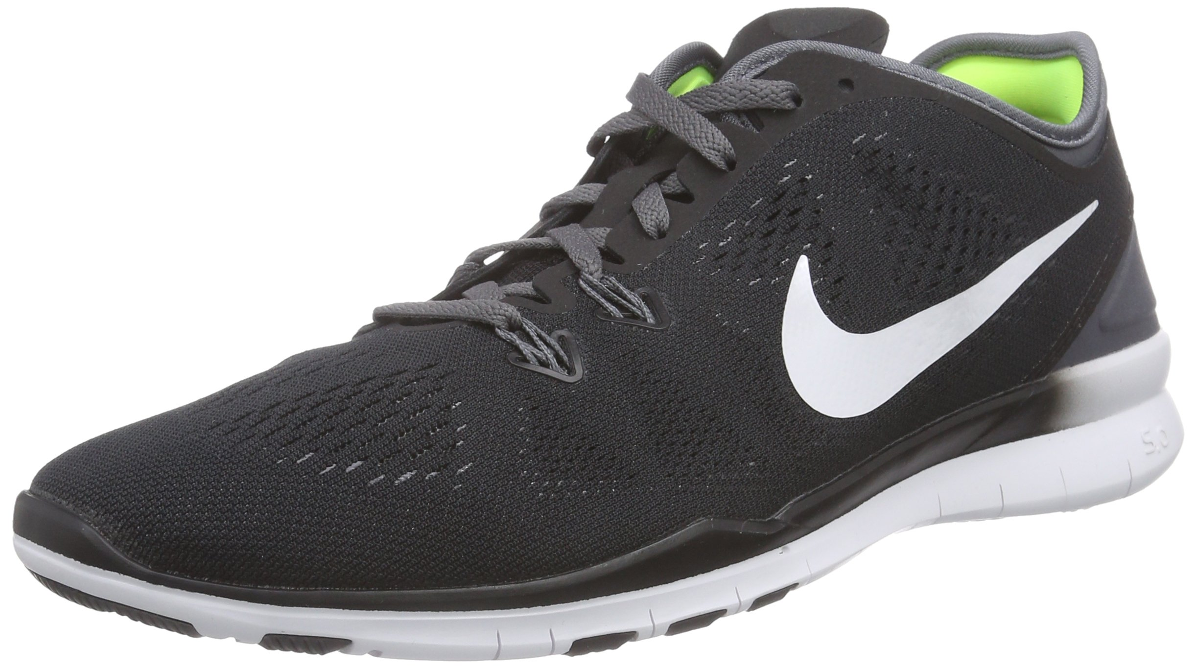 NIKE Women's Free 5.0 TR Fit 5 Black/White/Dark Grey/White Training Shoe 9.5 Women US
