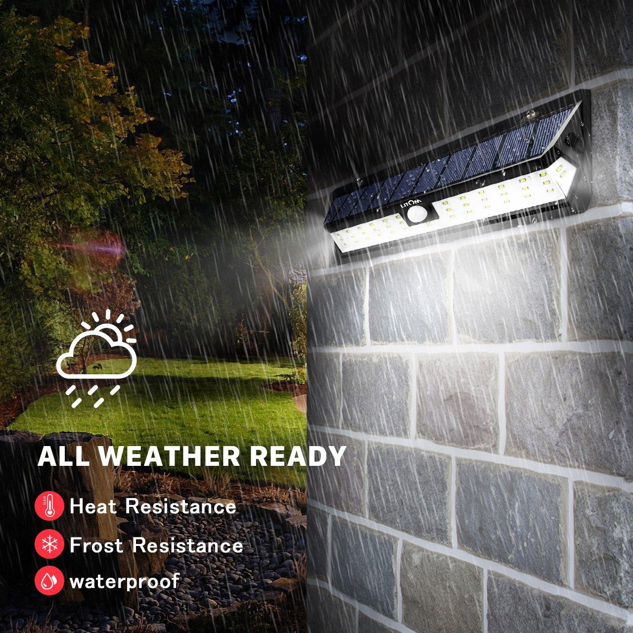 LITOM Solar Lights Outdoor 42 LED, Adjustable Lighting Time Solar Motion Sensor Light with 270° Wide Angle and Waterproof Design, Wireless Solar Lighting for Front Door, Yard, Garage, Deck (2 Pack) by Litom (Image #2)
