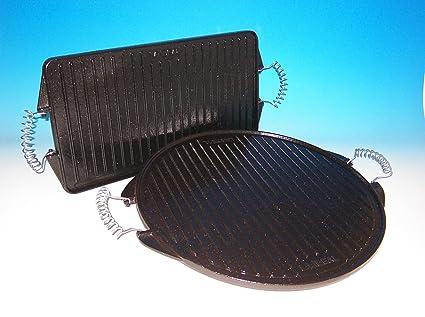 Guison redonda de hierro fundido, parrilla, negro, 65 cm
