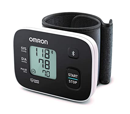 Omron RS3 Intelli IT - Tensiómetro de muñeca, Bluetooth con aplicación Omron Connect para móviles