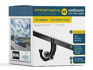 Mundo Muñeco 7b500016 Hyundai Tucson (TLE) - Starre Remolque Incluye fahrzeugspezifischem 13 pines Juego eléctrico: Amazon.es: Coche y moto
