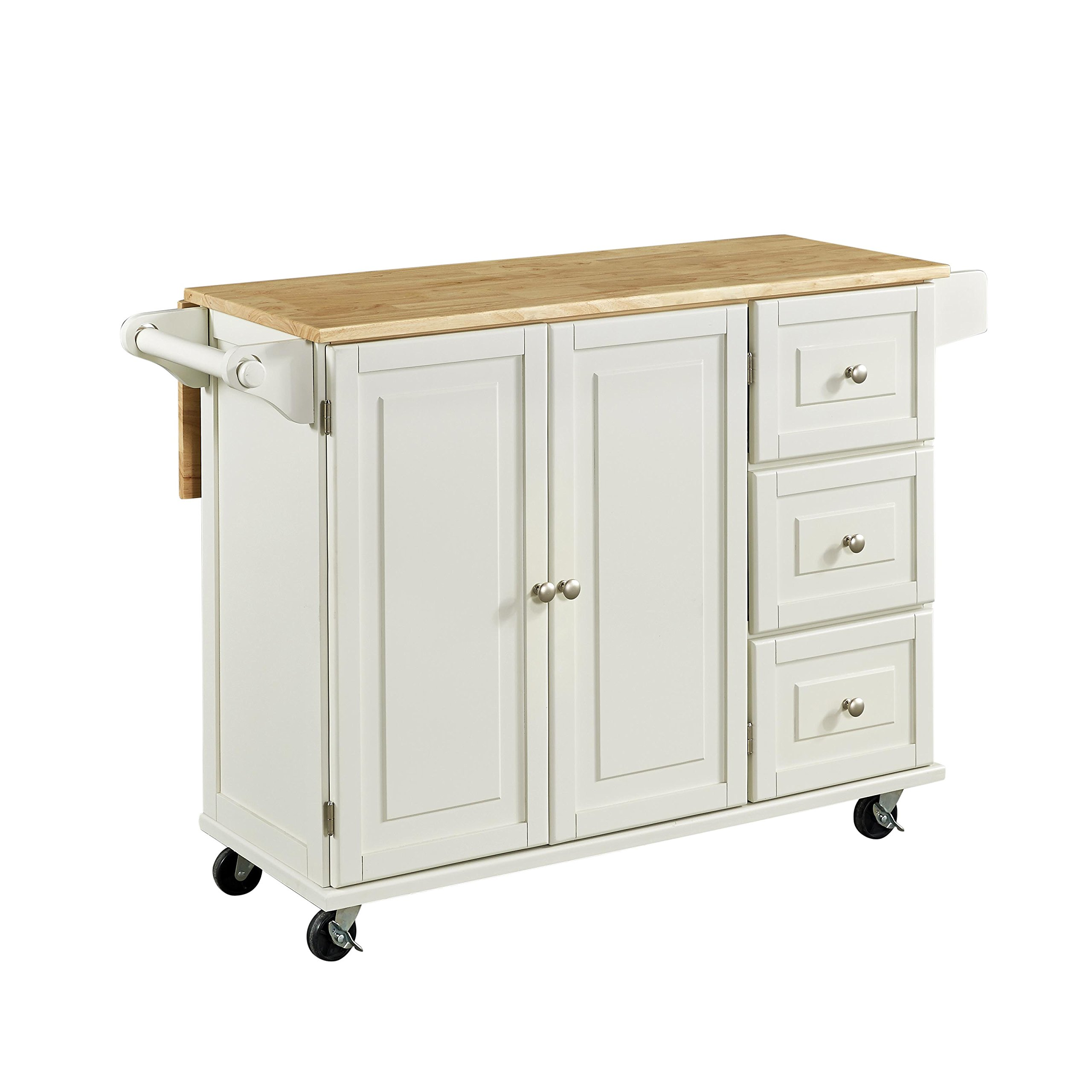 Home Styles 4511-95 Liberty Kitchen Cart with Wood Top, White by Home Styles (Image #8)