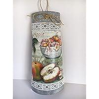Teja decorativa para la cocina con adorno de manzanas