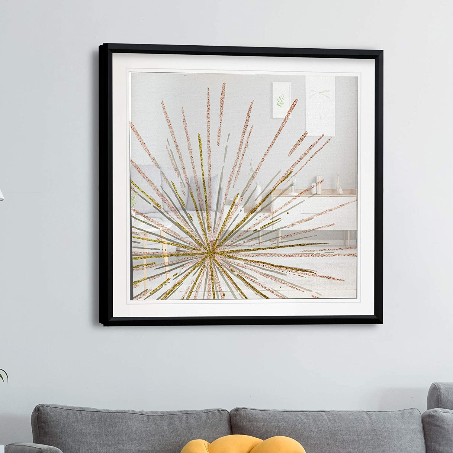 Stretched painting Canvas Wall Art Wall Art with Gold Abstract glam ready to hang Art Picture Metallic Picture Canvas Modern Home Decor