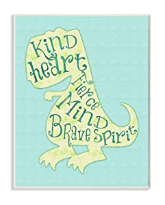 Stupell Home Décor Kind Heart Dinosaur Silhouette Wall Plaque Art, 10 x 0.5 x 15, Proudly Made in USA
