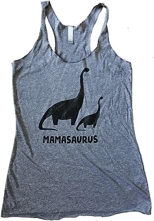 The Bold Banana Women's Mamasaurus Dinosaur Tank Top