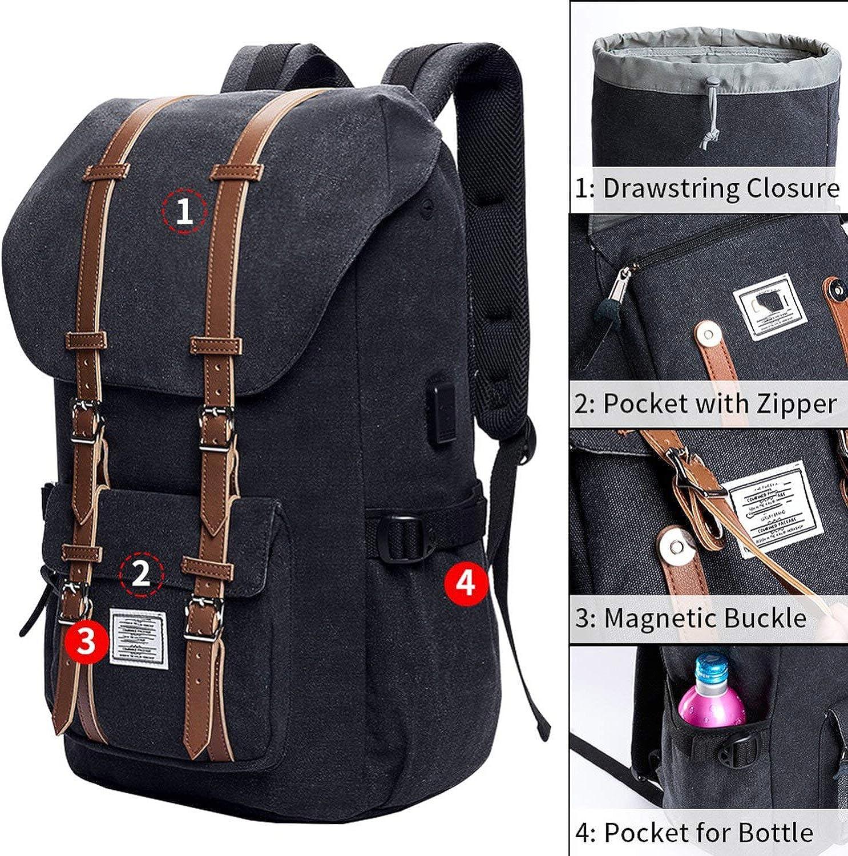 Laptop Backpack 15.6-17.3 inch for Teenage School Travel Bag Leather Casual Men Backpacks 15-17inch Backpack Travel Women,6069C Blue