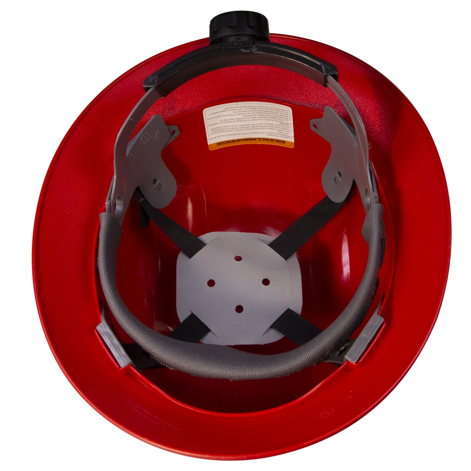 PPE By JORESTECH - HDPE Full Brim Style Hard Hat Helmet w/Adjustable Ratchet Suspension For Work, Home, and General Headwear Protection ANSI Z89.1-14 Compliant (Red) by JORESTECH (Image #5)