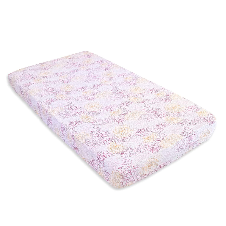 Burt's Bees Baby - Fitted Crib Sheets, 2-Pack, Girls & Unisex 100% Organic Cotton Crib Sheet for Standard Crib and Toddler Mattresses (Sunset Stripe) Ayablu Incorporated / DBA Burt's Bees Baby HM25784