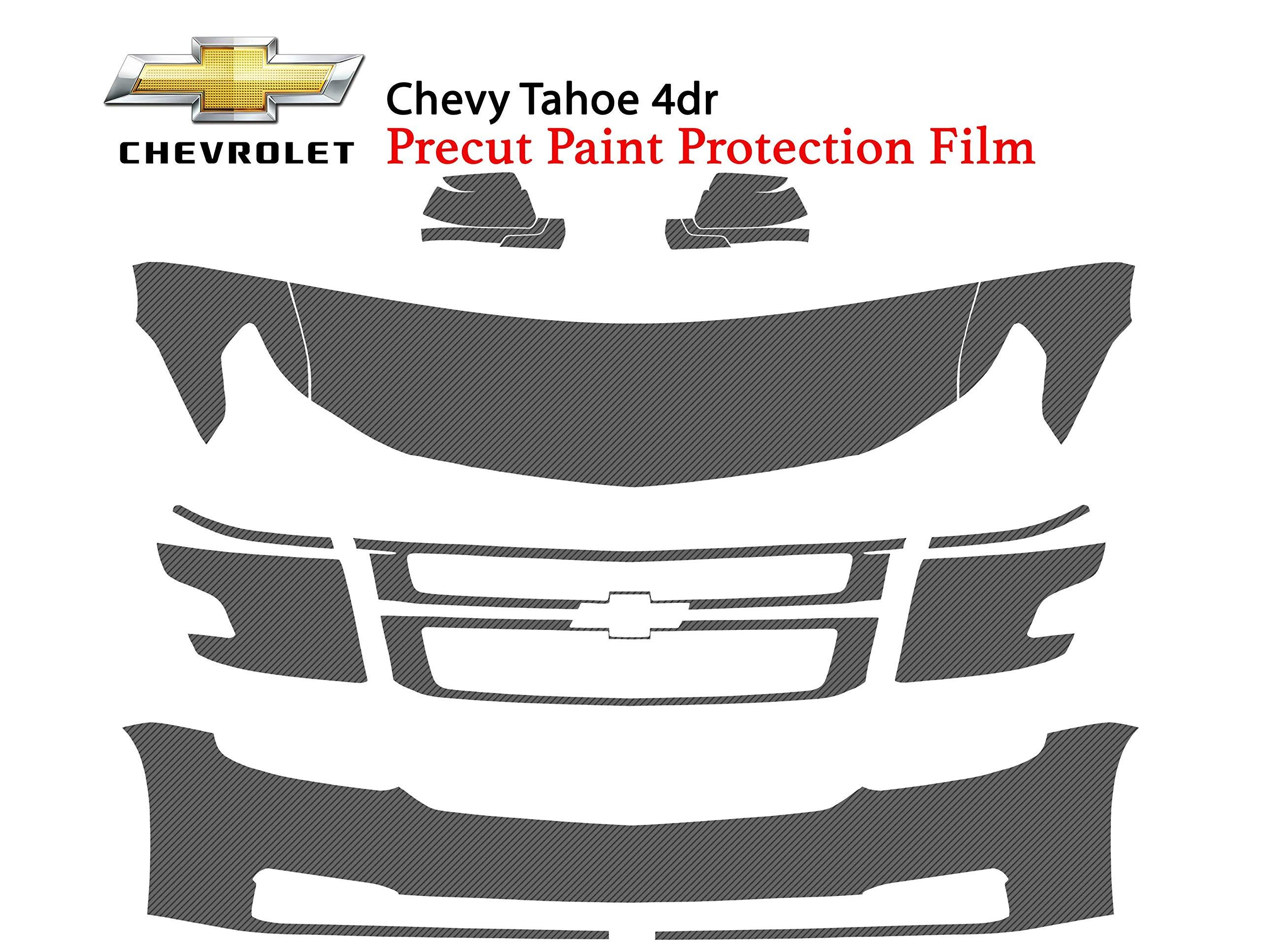 The Online Liquidator Precut Clear Bra Paint Protection Film Kit fits Chevrolet Tahoe 4dr 2015-2018 - Premium Full Front Vinyl Wrap Surface Safeguard Cover