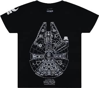 Star Wars Falcon Lines Camiseta para Niños