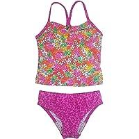 Speedo Girl's Sporty Splice Tankini 2 Piece Swimsuit