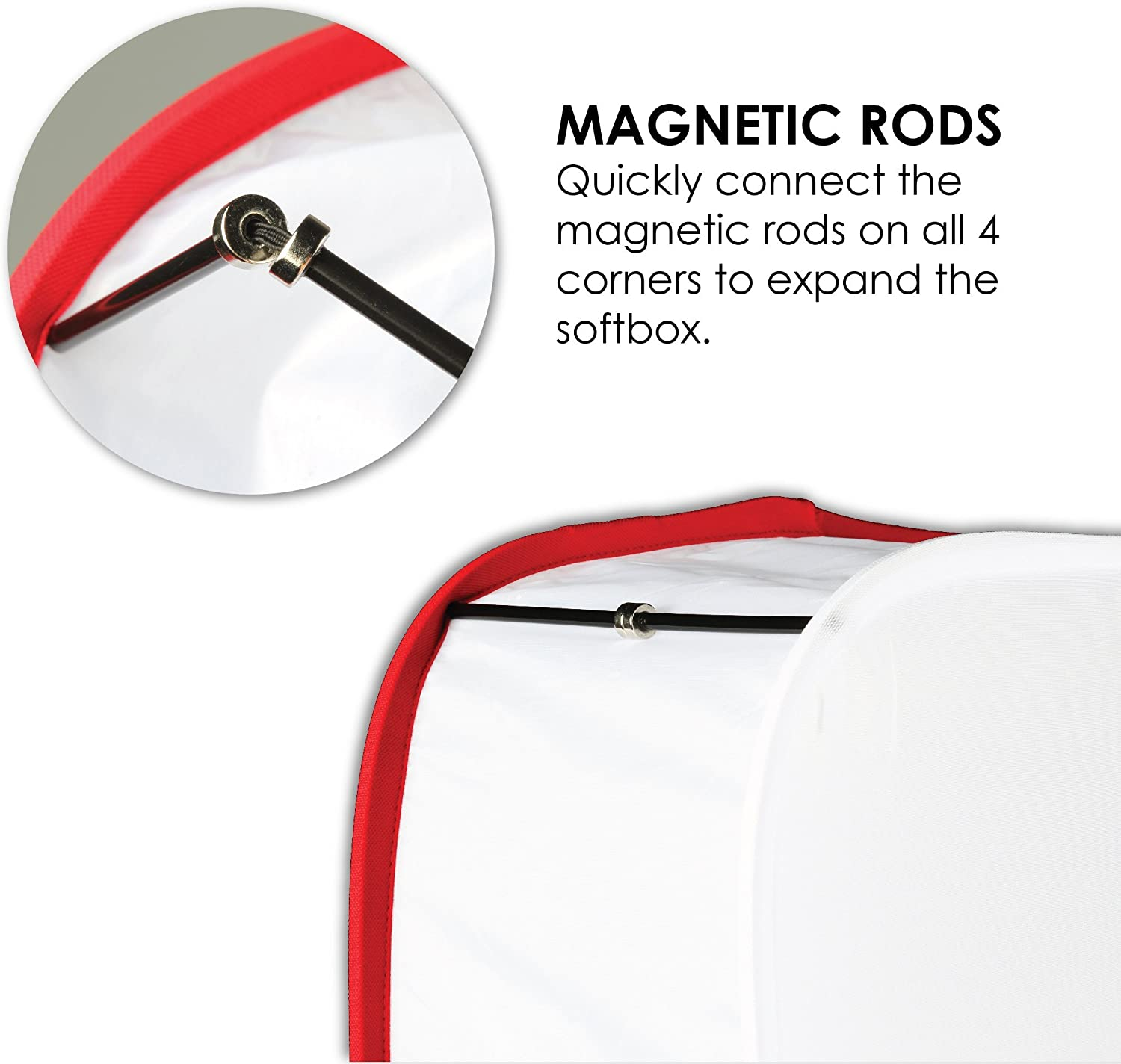 Foldable Photography Portable Diffuser DF-1MW Photo Video Carrying Bag Kamerar D-Fuse Medium White LED Light Panel Softbox: 9 x 9 Opening Strap Attachment