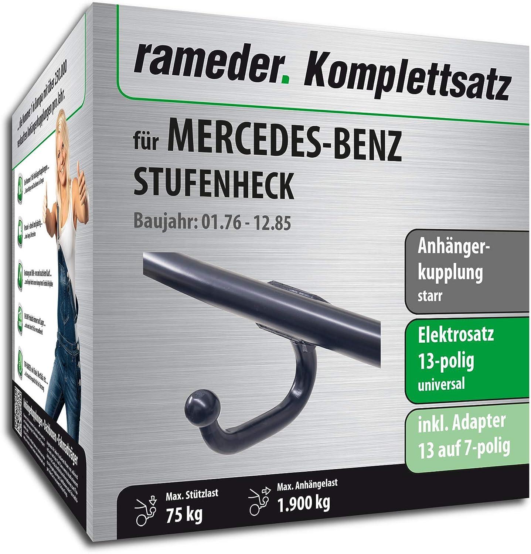 13pol Elektrik f/ür Mercedes-Benz STUFENHECK 124645-00571-1 Anh/ängerkupplung starr Rameder Komplettsatz