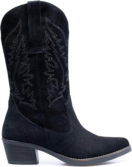 Zapatos miMaO. Botas Cowboy Piel Mujer Hechos EN ESPAÑA. Botas ...