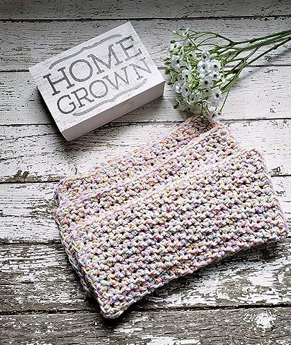 Amazon Com Crochet Baby Washcloths Nursery Baby Bath Cloths Pastel