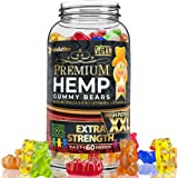 Wellution Hemp Gummies 1,600,000 High Potency - Fruity Gummy Bear with Hemp Oil. Natural Hemp Candy Supplements for Pain, Anx