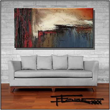 Amazon.com: Extra Large Abstract Modern Canvas Painting ...