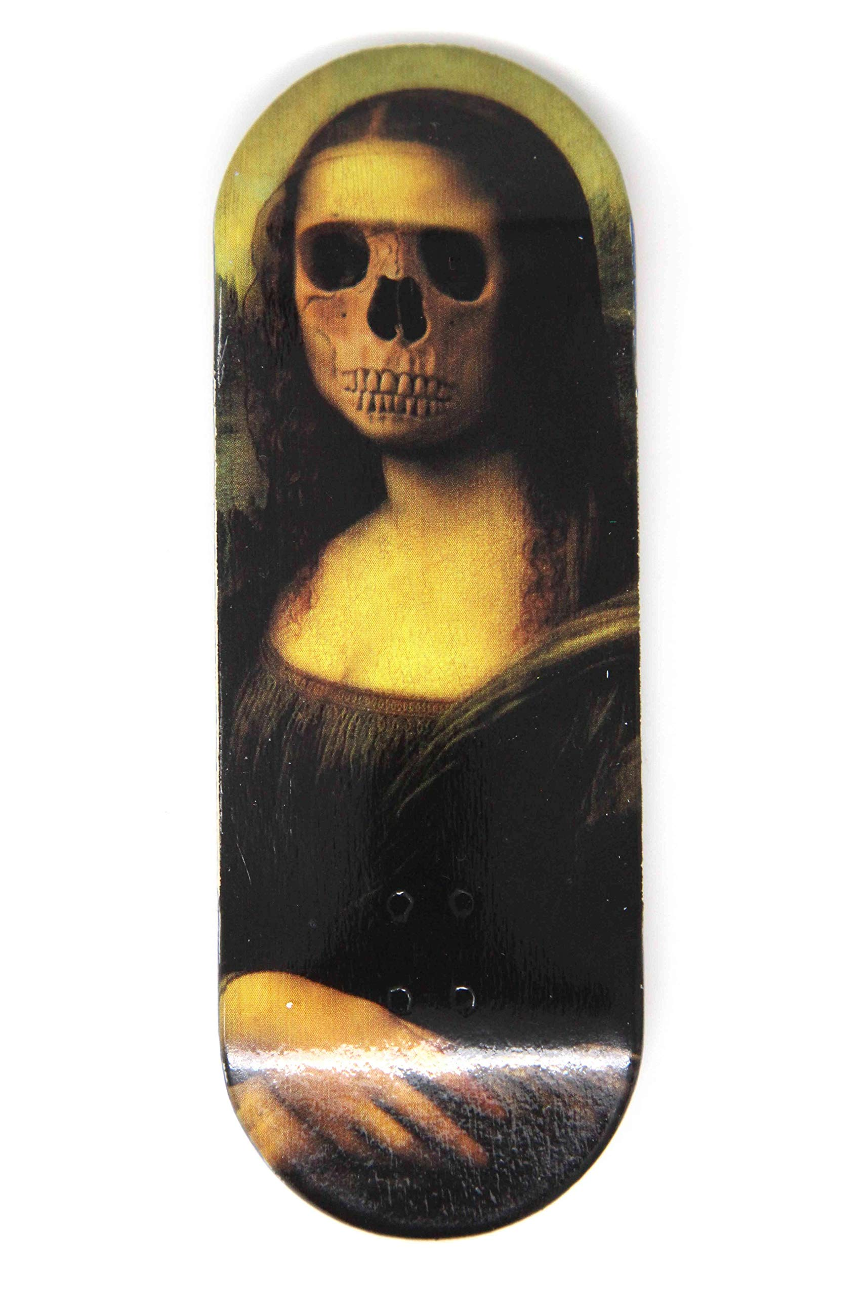 Skull Fingerboards Mona 34mm Complete Professional Wooden Fingerboard Mini Skateboard 5 PLY with CNC Bearing Wheels by Skull Fingerboards (Image #2)