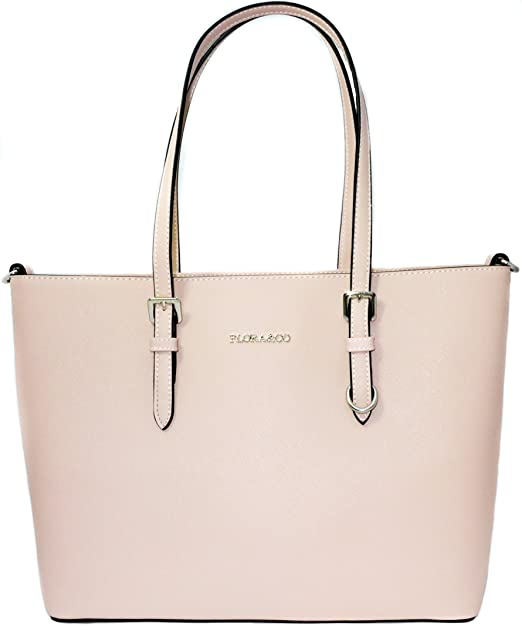 Shopper Tasche Handtasche Rosa Flora & Co Schultertasche Saffiano
