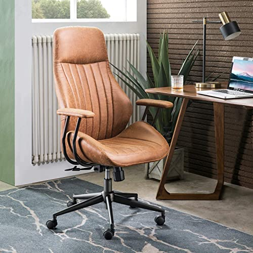ovios Ergonomic Office Chair,Modern Computer Desk Chair,high Back Suede Fabric Desk Chair